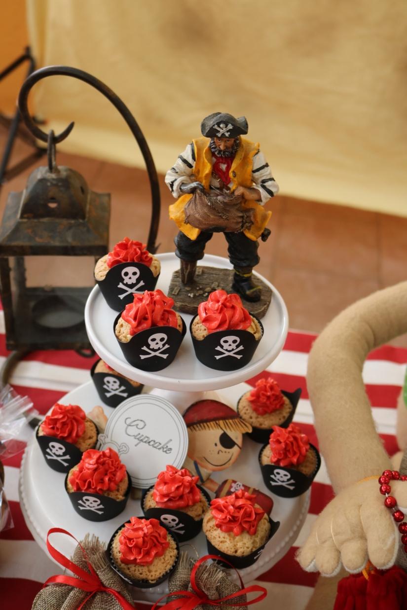Cupcakes de Vainilla con capsulas Pirata.